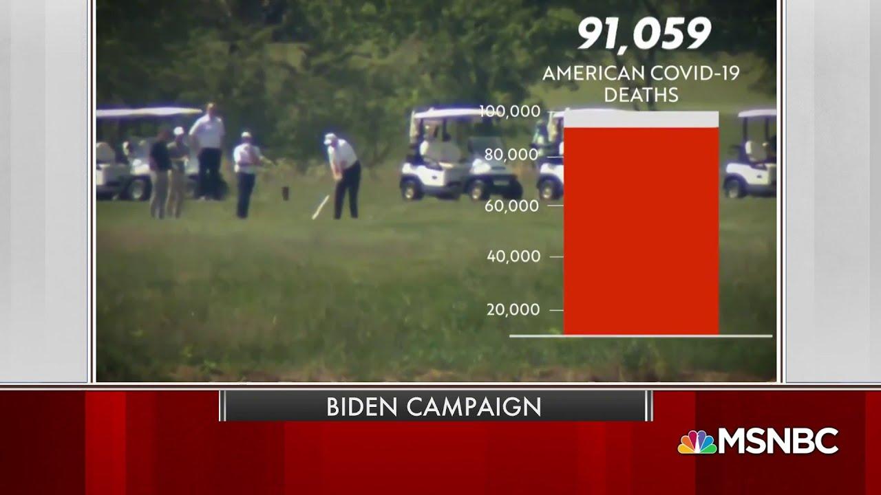 New Biden Ad Slams Trump For Golfing As Death Rate Rises | MSNBC