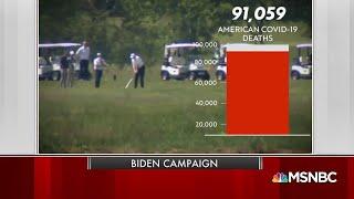 New Biden Ad Slams Trump For Golfing As Death Rate Rises   Msnbc