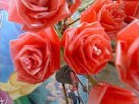 Bikin Bunga mawar dari kantong kresek bekas - YouTube 0bac8ec58d