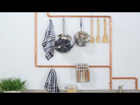DIY Copper Pipe Kitchen Rack   Eye on Design on wall shelving for kitchen, wire shelving for kitchen, bar shelving for kitchen, wood shelving for kitchen, metal shelving for kitchen, steel shelving for kitchen, industrial shelving for kitchen, glass shelving for kitchen,