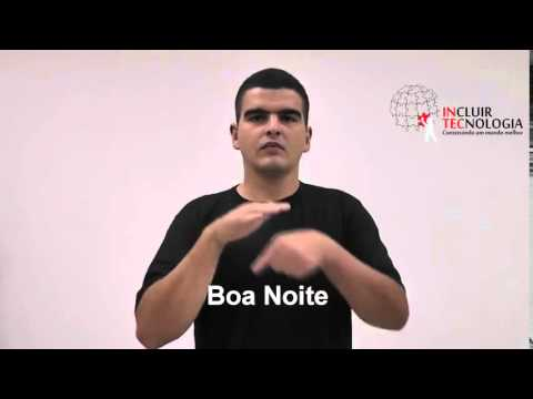 Libras Boa noite - YouTube
