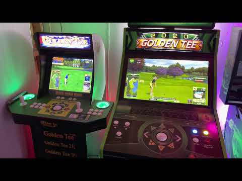 Arcade1up VS Full Size Cab Mods: Golden Tee Edition from wmx99