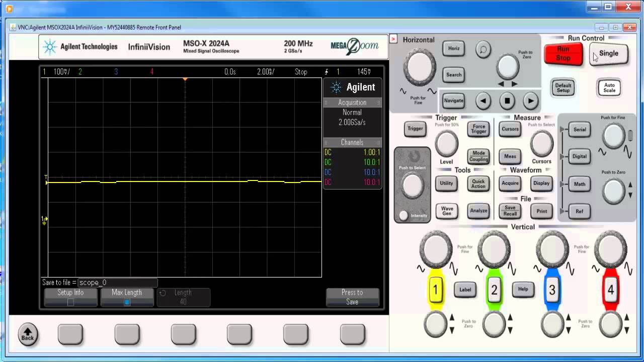 How to Save All Available Trace Data to a USB Flash Drive on InfiniiVision  X-Series Oscilloscopes