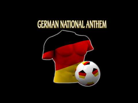 German National Anthem Germany World Cup 2010 South Africa Soccer Football Deutschland