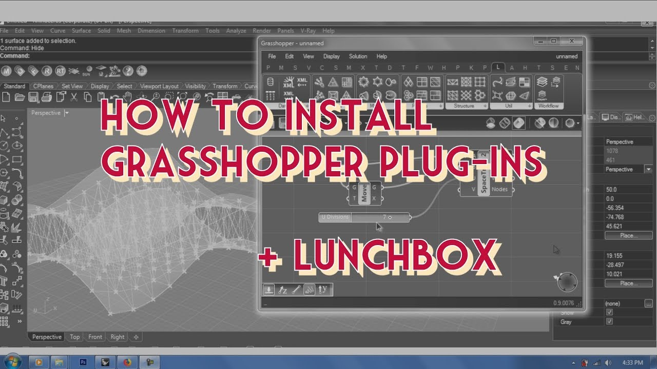 Grasshopper #1 | Section 2 | How to Install Plug-ins + LunchBox