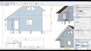 [#1 Пристройка к дому] Первый этап - Эскизный проект ( подгонка размеров). SketchUP. LayOut.