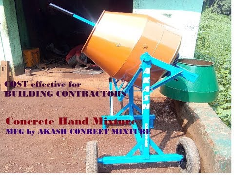 Portable Concrete HAND MIXER mfg by Akash Concreet Mixture