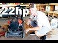 🔧 22HP V Twin Monster Push Mower !!!