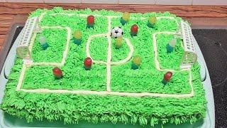 Fußballfeld Torte