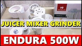 Havells Endura 500 W Juicer Mixer Grinder UNBOXING & OVERVIEW