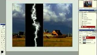 Уроки фотошопа -- создание молнии из облаков