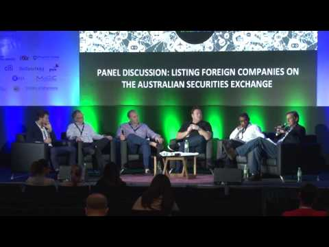 Panel: Listing foreign companies on the Australian Securities Exchange - WD2016
