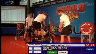 Arnold Classic Europe 2018 - Mens & Womens Classic Bench Press