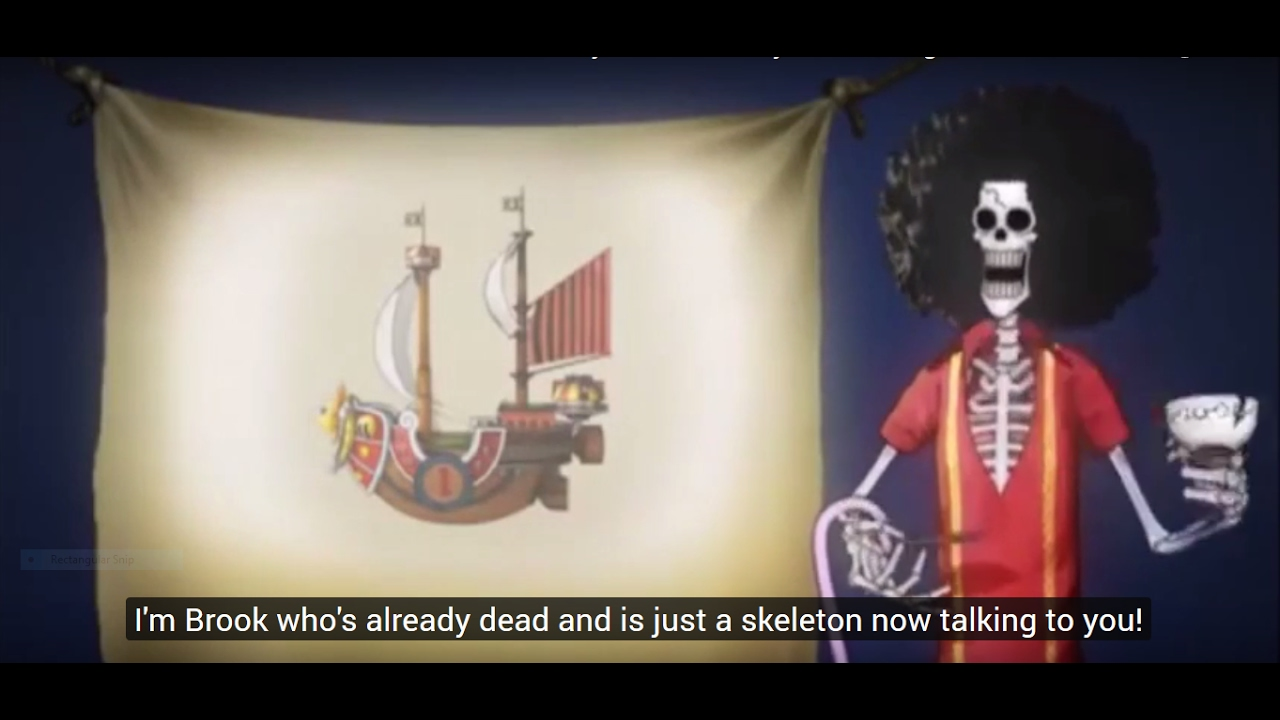 Download ONE PIECE   Eng Subbed   Strawhat Crew's Thousand Sunny introduced by Brook   BON VOYAGE