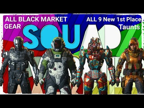 8fee772f266 BO3: ALL Black Market GEAR(DLCs Included) & ALL 9 NEW SPEC 1ST PLACE  TAUNTS!!