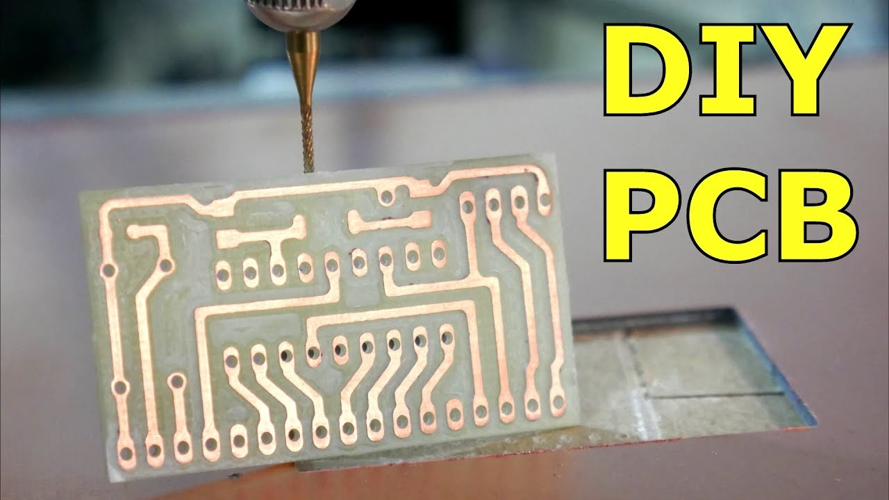 Simple DIY PCB with a 3D Printer - YouTube
