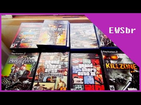 Minha coleção de Playstation 2 Atualizada !