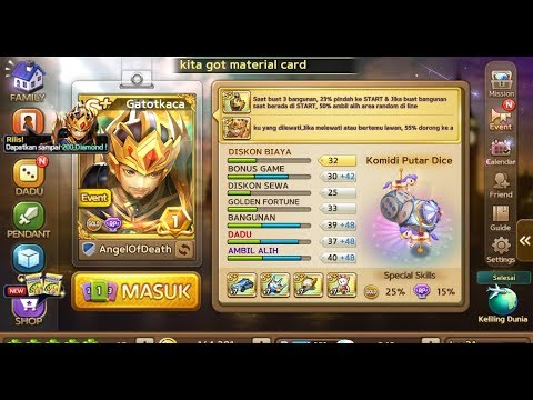 Get S+ Gatot Kaca ( Let's Get Rich Indonesia ) Modal 400 Diamond !!!
