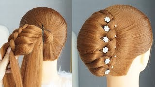 Big French Bun Hairstyle With New Trick French Bun Hairstyles For Medium Hair