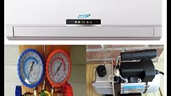Installation Ductless Mini Split 410a Air Conditioner & Heat Pump Mitsubishi Compressor Aircon Unit