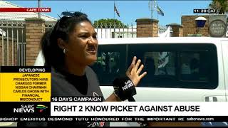 R2K pickets at various police stations across the Penninsula