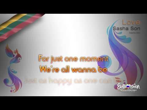 """Sasha Son - """"Love"""" (Lithuania) - [Karaoke version]"""