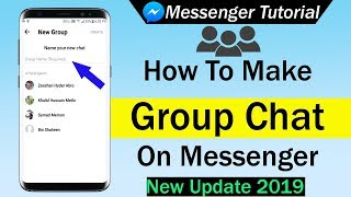 How To Make Group Chat On Messenger - New Update