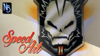 Speed Art Drawing - Black Ops 2 Logo