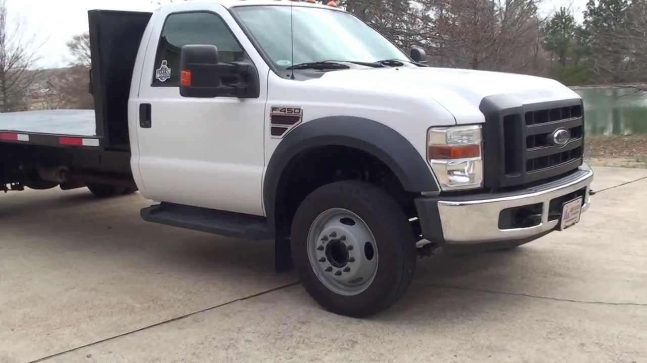 hd video 2008 ford f450 xl 14 ft flat bed diesel for sale see www sunsetmotors com youtube. Black Bedroom Furniture Sets. Home Design Ideas