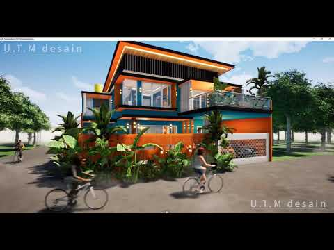 desain rumah minimalis modern tropis 2 lantai atap datar