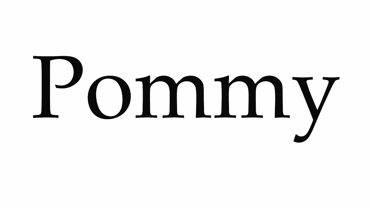 Pommy accent
