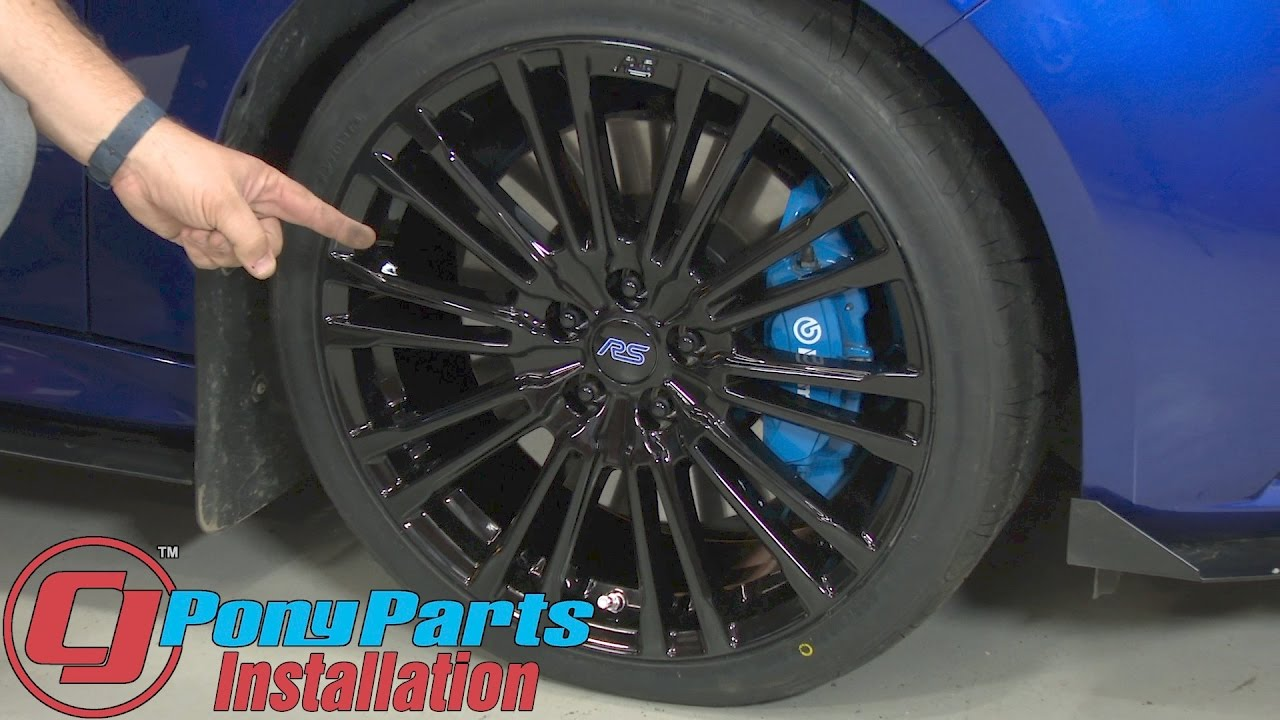 Focus Ford Performance Focus Rs Wheel 19x8 Gloss Black 2012 2018 Installation