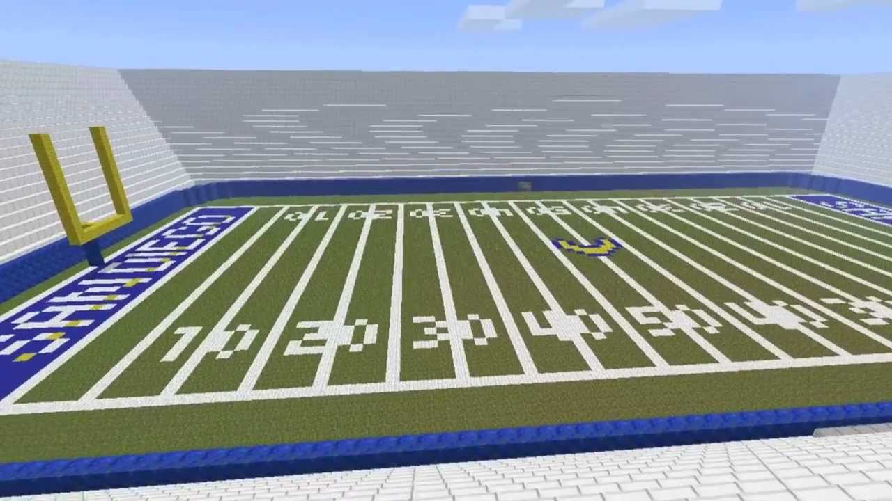 Life Size Football Stadium In Minecraft W Download