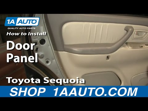 How To Remove Front Door Panel 01 04 Toyota Sequoia Youtube