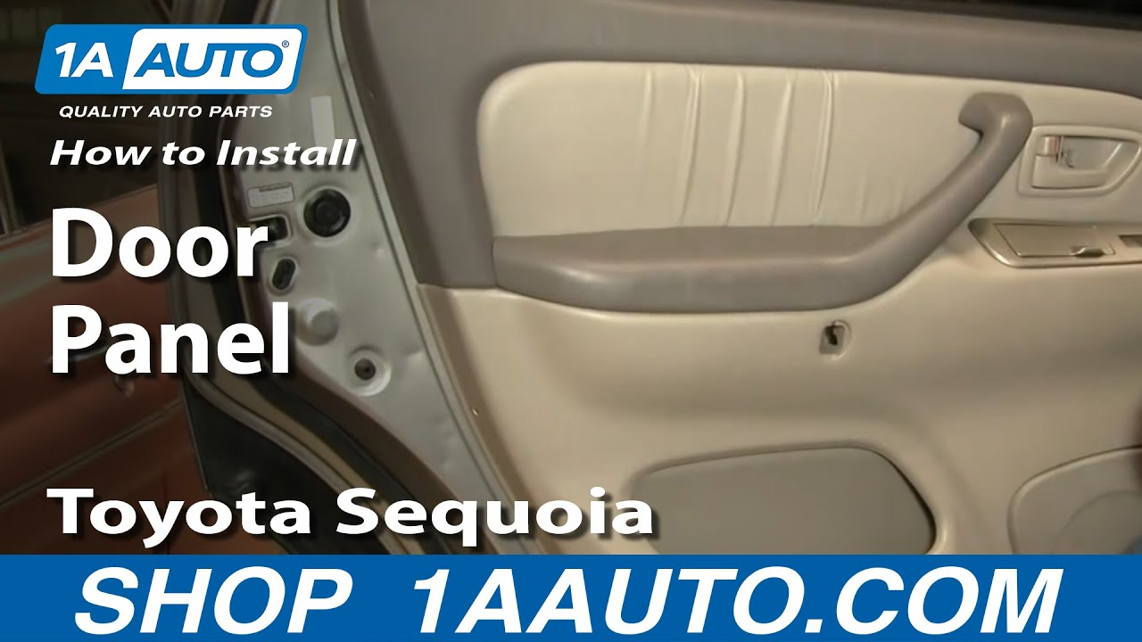 How To Install Replace Remove Door Panel Toyota Sequoia 01