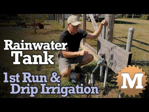 Rainwater Harvesting Tank - Drip Irrigation and Pump Problems