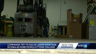 Iowa business gets creative to overcome labor shortage