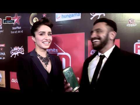 Shraddha Kapoor at GiMA Awards 2015 with RJ J Man