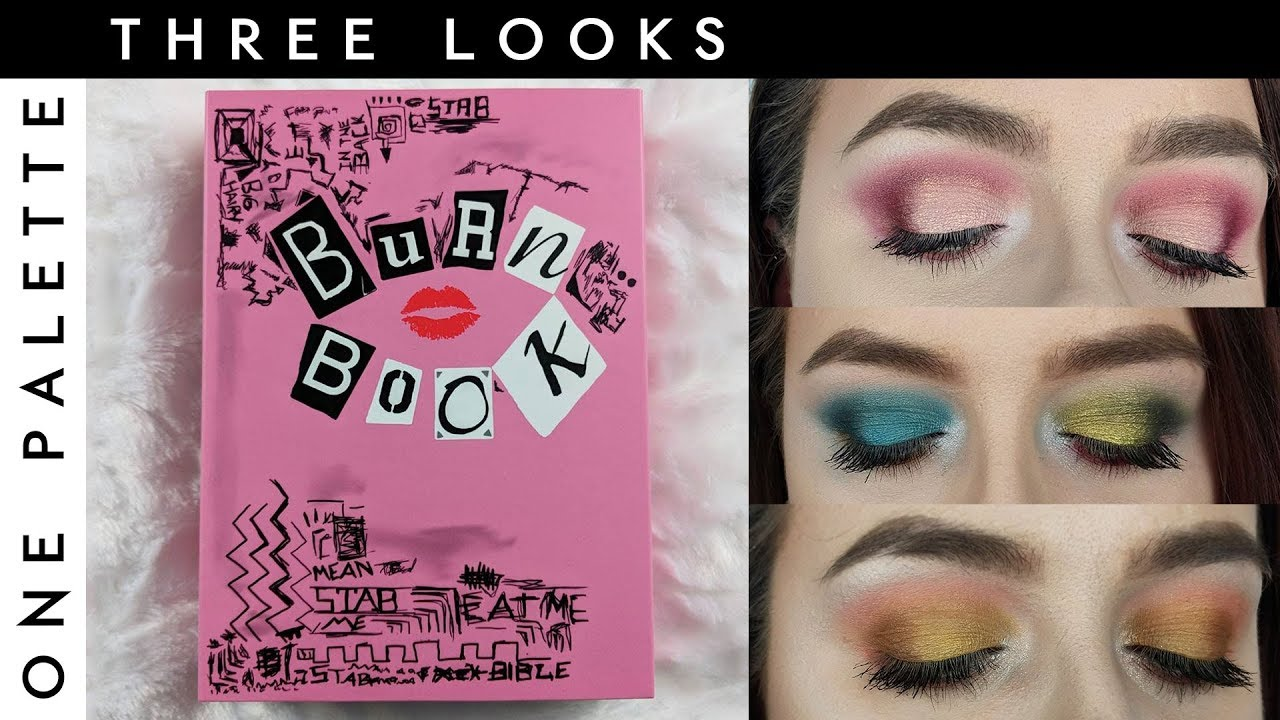 mean girls burn book eye shadow palette | 3 looks 1 palette | the fangirl  eclectic