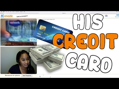 His Credit Card Number Trolling Omegle