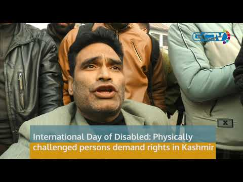 International Day of Disabled: Physically challenged persons demand rights in Kashmir