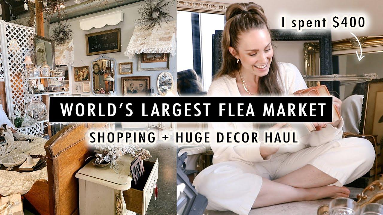 I spent $400 at the World's LARGEST FLEA MARKET (Shopping + HUGE Decor Haul)   Canton, TX