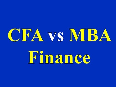 CFA vs MBA Finance