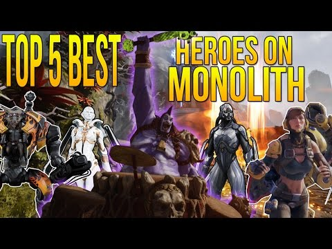 TOP 5 BEST HEROES on MONOLITH in PARAGON (Paragon Monolith Top 5 Best Heroes)
