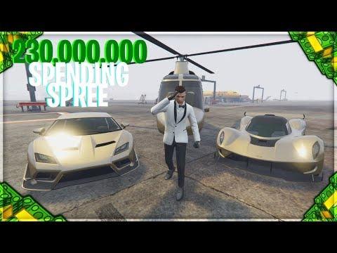 $230,000,000 SPENDING SPREE!   GTA 5 Online