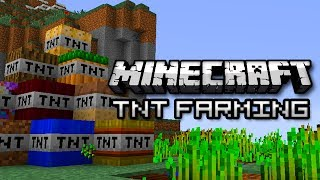 Minecraft: EXTREME FARMING MOD - Grow Crops With TNT