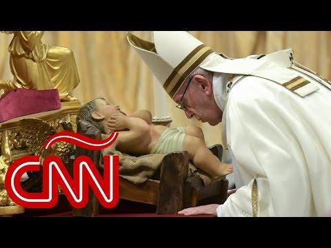Así fue la homilía del papa Francisco en la misa de Nochebuena desde el Vaticano