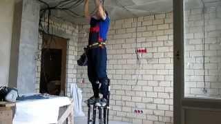 Технология электромонтажных работ. Ч8(Закрепление кабеля на потолке. Электромонтажные работы в Воронеже: +7 920 453 83 61., 2014-07-13T09:37:39.000Z)