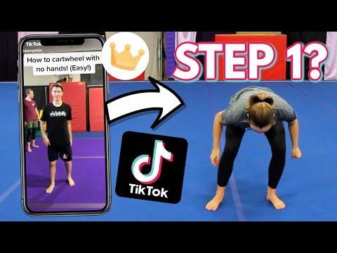 Trying Gymnastics Tutorials From Tik Tok!