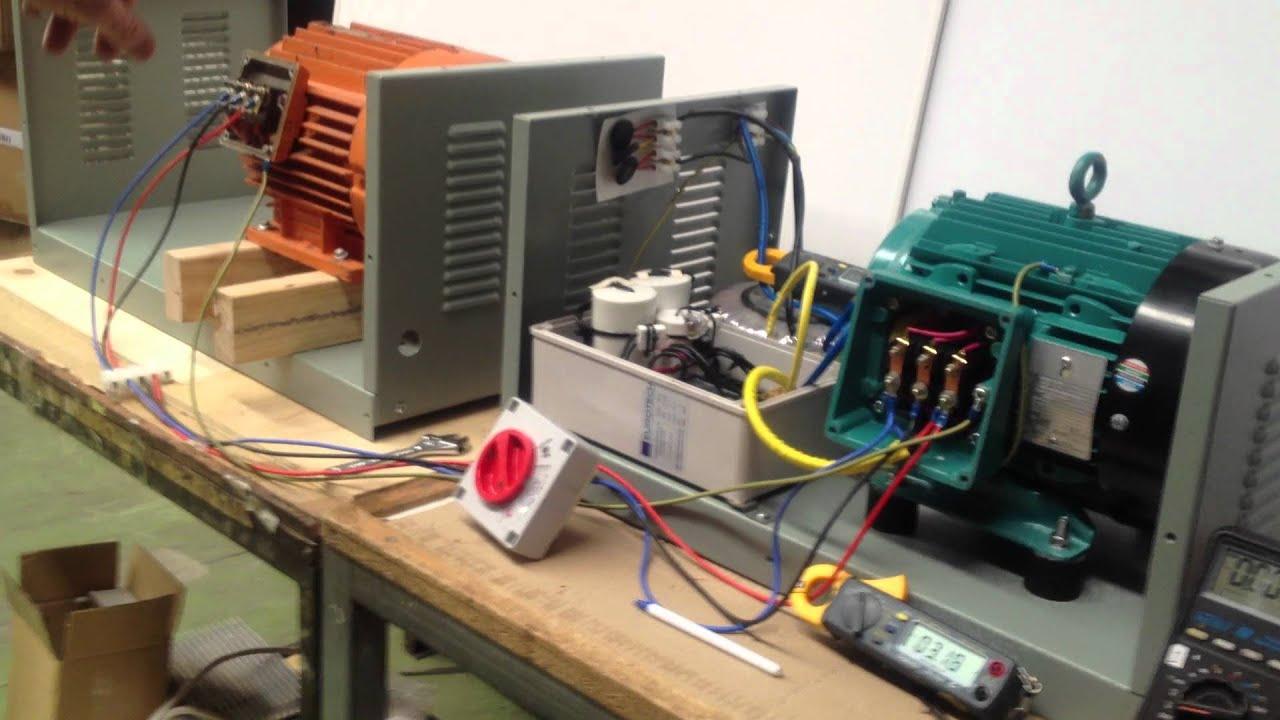Single to three phase converter create 415V 3 phase power